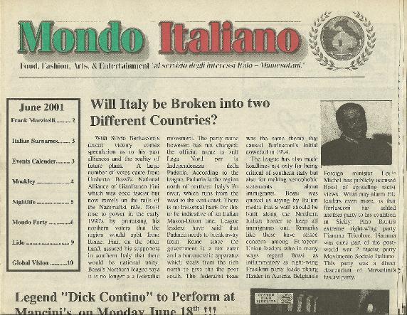 Mondo Italiano Newspaper - LCMG - Luxury Chamber - Southwest Florida Magazine